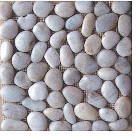 Piastrelle pavimento da esterni in ciottoli bianchi 11 pz for Pavimento esterno brico casa