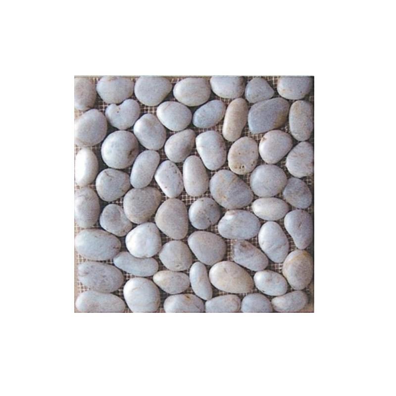 Piastrelle pavimento da esterni in ciottoli bianchi 11 pz for Ciottoli bianchi da giardino prezzi