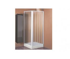 CABINA BOX DOCCIA ANGOLARE A SOFFIETTO IN PVC 110÷80