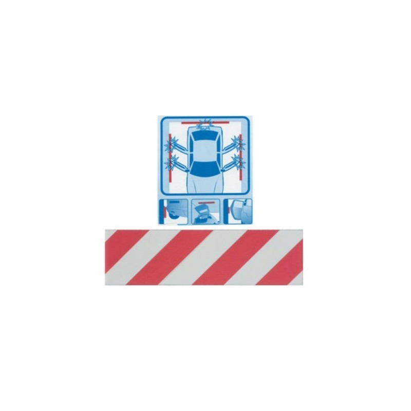 Pannelli adesivi antiurto per box auto garage 50x14 cm for Adesivi per piastrelle brico