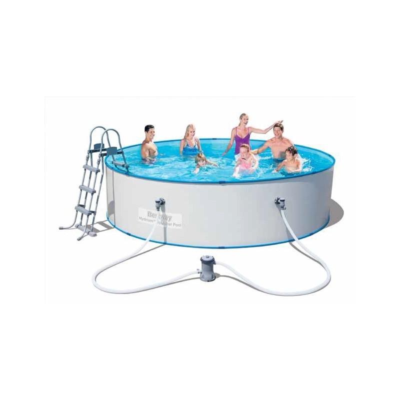 Piscina piscine con telaio e pareti in acciaio 360x90h for Piscina acciaio
