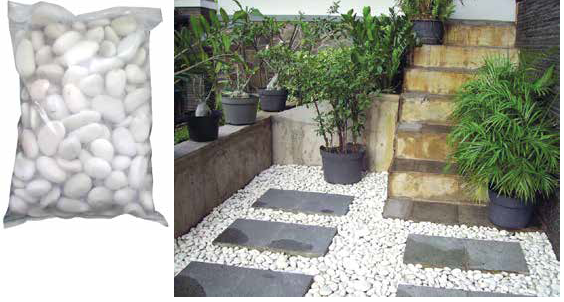 Come pulire i sassi bianchi da giardino awesome bordure for Ciottoli bianchi giardino prezzo