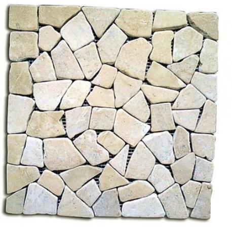 Piastrelle mosaico da esterni in pietra giallo 11 pz - Piastrelle in pietra naturale ...