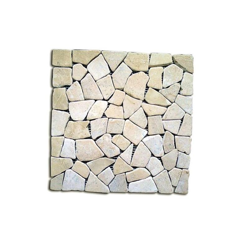 Piastrelle mosaico da esterni in pietra giallo 11 pz for Pavimento esterno brico casa