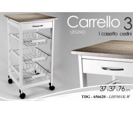 MOBILE MOBILETTO CARRELLO IN LEGNO