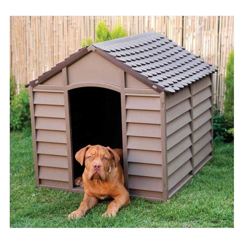 Animali Di Plastica Da Giardino.Cuccia Per Cani Media Grossa Taglia In Resina Per Esterno Beige E Marrone 78x84x80h Brico Casa