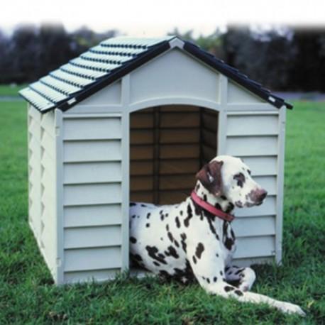 Cucce Per Cani Da Esterno In Plastica.Cuccia Per Cani In Resina Per Esterno Grigio E Verde 78x84x80h