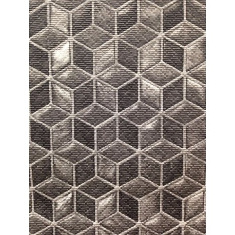 Passatoia Al Metro.Tappeto Con Cubi Geometrici Al Taglio Al Metro Antiscivolo Brico Casa