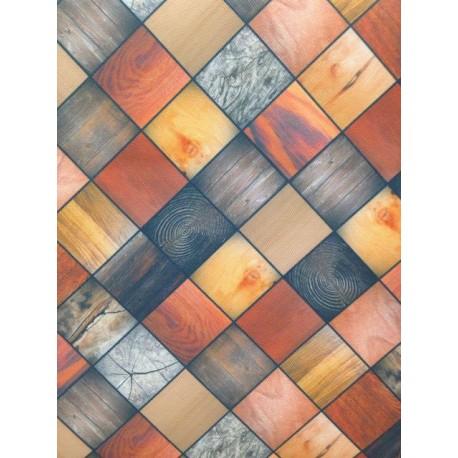 Tappeto con mosaici effetto legno al taglio a metro for Pavimento esterno brico casa