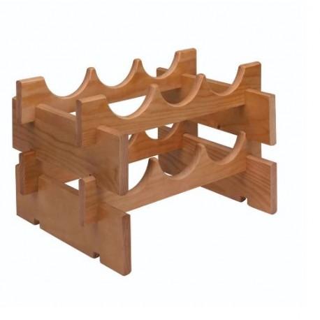 Cantinetta in legno di pino portabottiglie bottiglie 6 posti brico casa - Portabottiglie di vino in legno ...