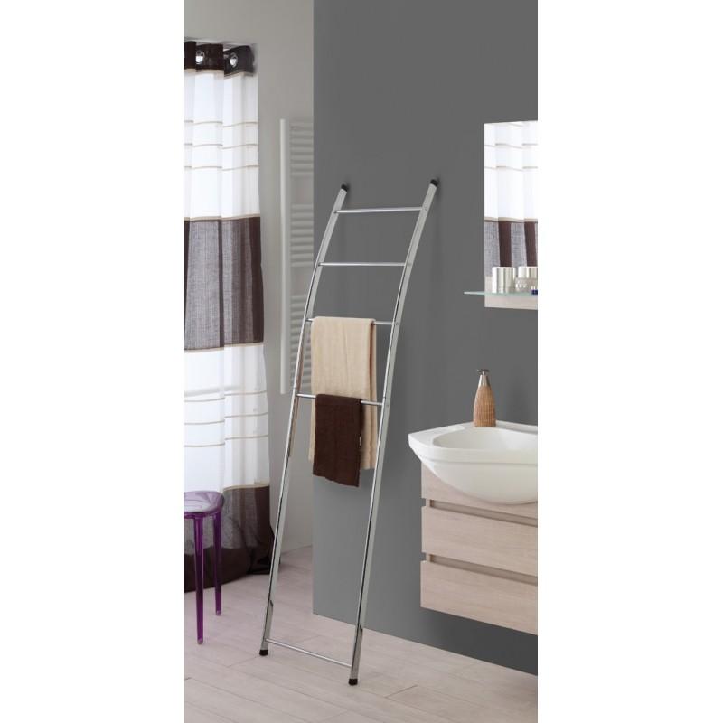 Scala porta asciugamani in acciaio cromato per bagno - Porta asciugamani per termoarredo ...