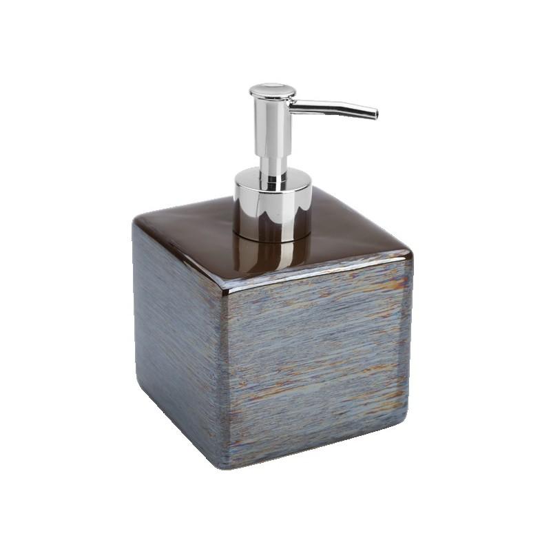 Portasapone Bagno In Ceramica.Set Bagno Ceramica Effetto Perlato Beige Marrone Cuba