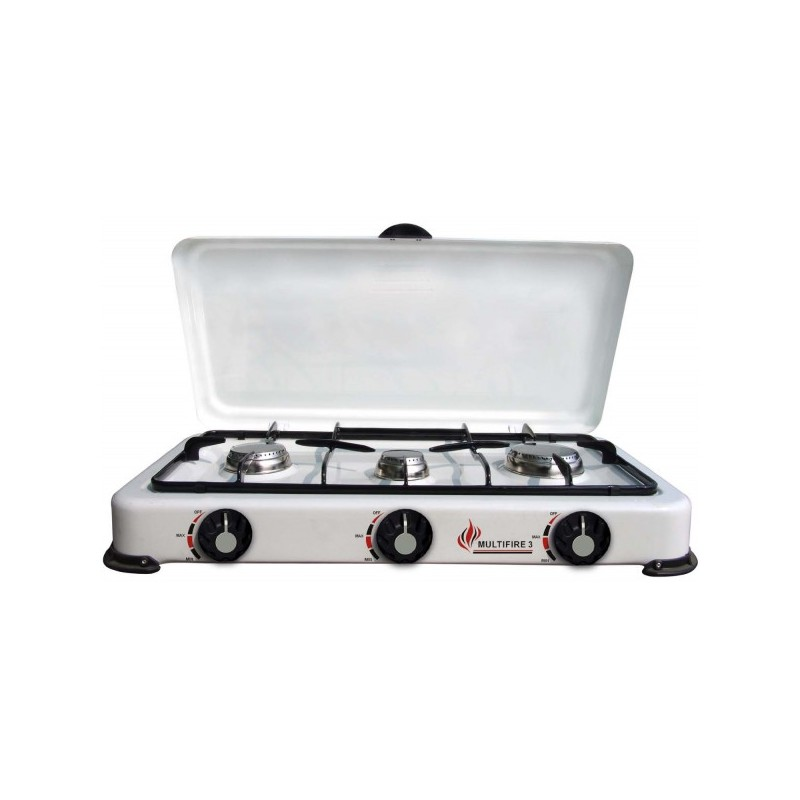 Fornello cucina cucinino a gas 3 fuochi per casa campeggio for Fornello a gas metano 3 fuochi