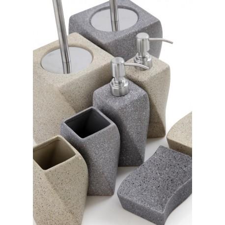Accessori Bagno In Pietra.Set Accessori Bagno Ceramica Effetto Granito Feridras Brico Casa