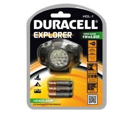 TORCIA LUCE DA CAMPEGGIO PESCA A LED DURACELL 19 LED