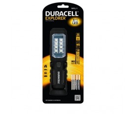TORCIA LUCE A LED IN ABS ORIENTABILE DURACELL 8+1 LED