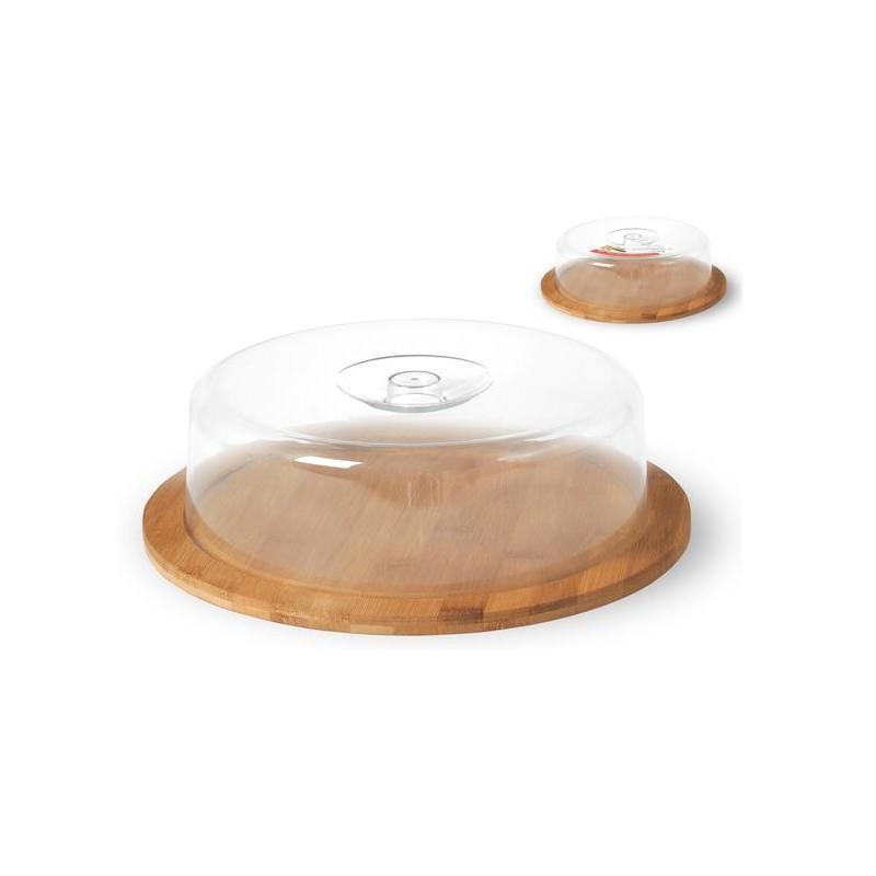 Contenitori In Plastica Brico.Contenitore Formaggi Alimenti Antipasti Con Base In Legno Di Bamboo