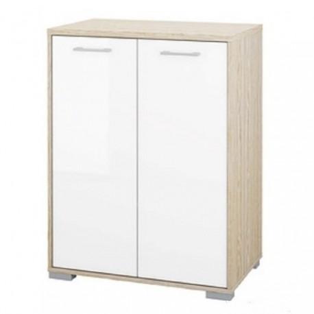 Mobile due ante bianco con struttura legno rovere brico casa for Mensole bianche brico
