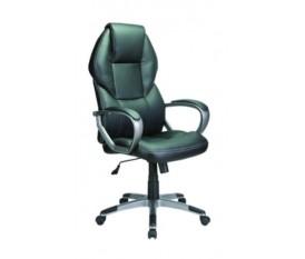 Poltrona da ufficio con schienale alto ergonomica nera eco pelle