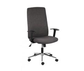 Poltrona sedia da ufficio in tessuto grigio regolabile con braccioli