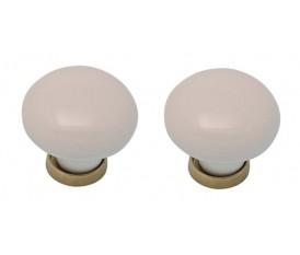 Pomelli in porcellana bianca vintage anticati