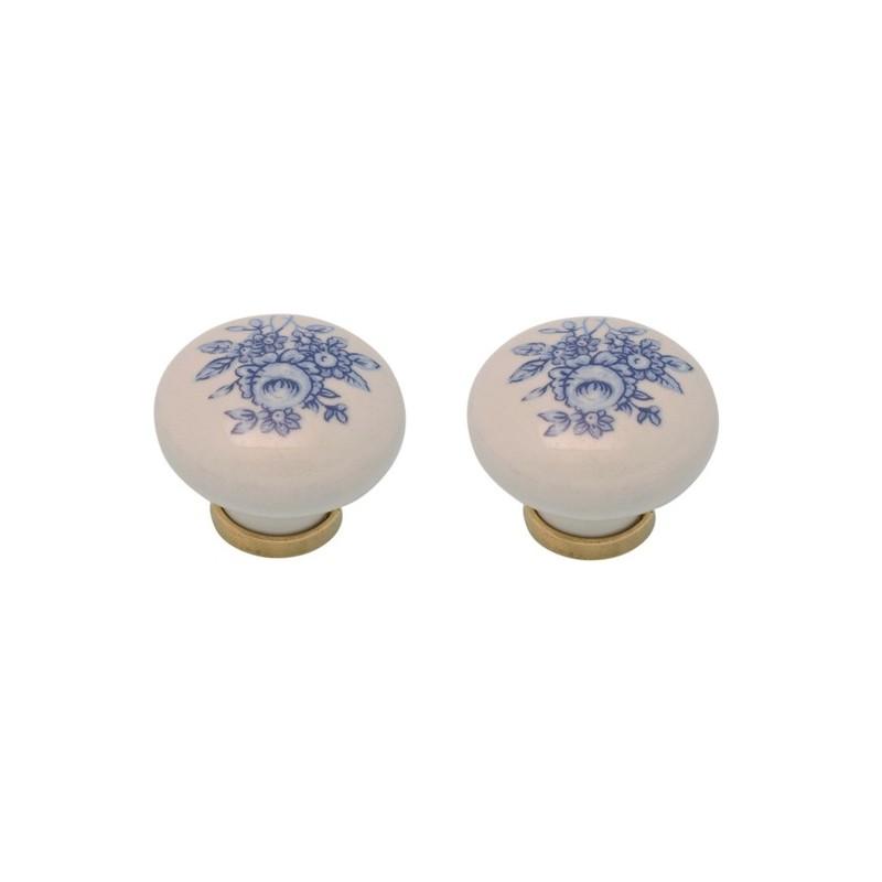 Pomelli per mobili cassetti armadio maniglia in porcellana 2 pz brico casa - Pomelli ceramica per cucina ...