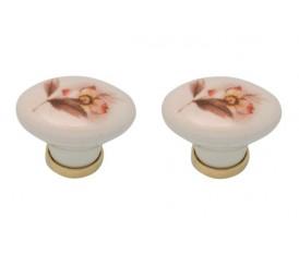 Pomelli retrò vintage anni 50-60-70 in porcellana con fiori