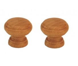 Pomelli in legno faggio finitura noce