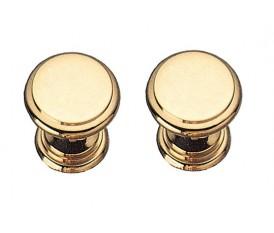 Pomelli in ottone torniti oro lucido per cassetti armadi e porte