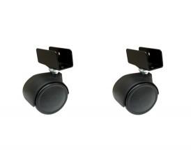 Ruote girevoli piastra attacco U mobili carrelli nylon - 2 pz