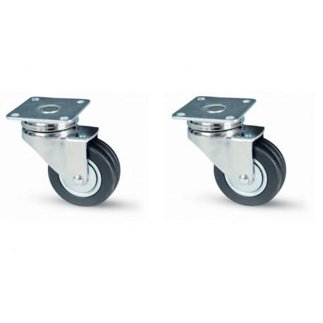 ruote girevole per mobili carrello carrelli in gomma 2 pz