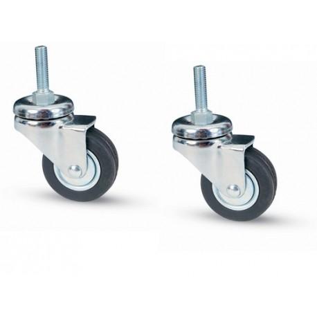 Ruote girevole per mobili carrello carrelli in gomma 2 pz - Mobili con ruote ...
