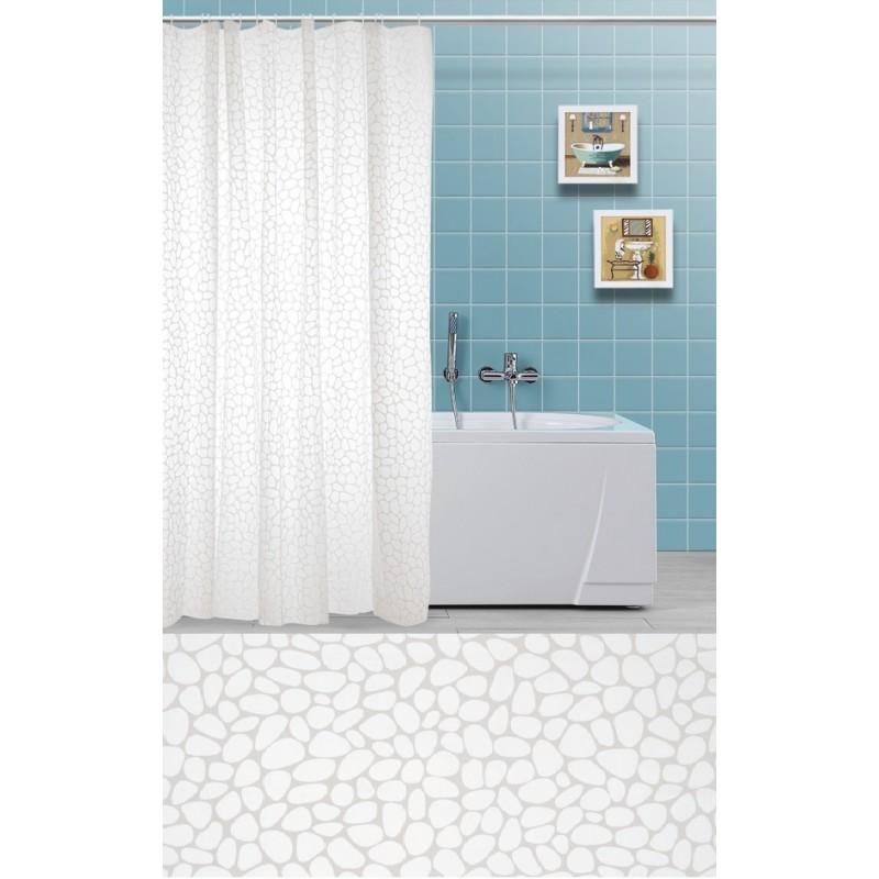 Tenda per bagno doccia in vinile con anelli 180x200h cm for Tende per doccia