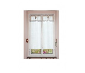 Tendine finestra 45x150 bianche country shabby merletto cuori cucina bagno