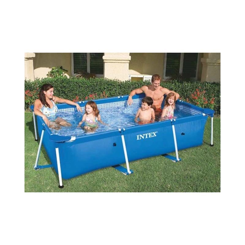 Intex easy set get 300x200x75 cm piscina con telaio for Luci per piscina fuori terra