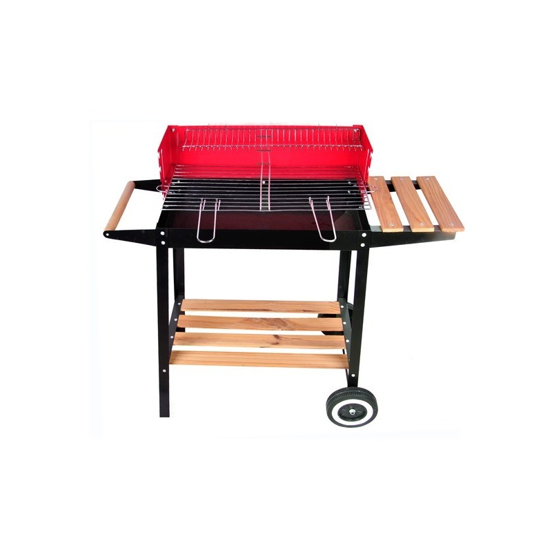 Barbecue con ruote per esterno rosso rettangolare brico casa - Barbecue per esterno ...