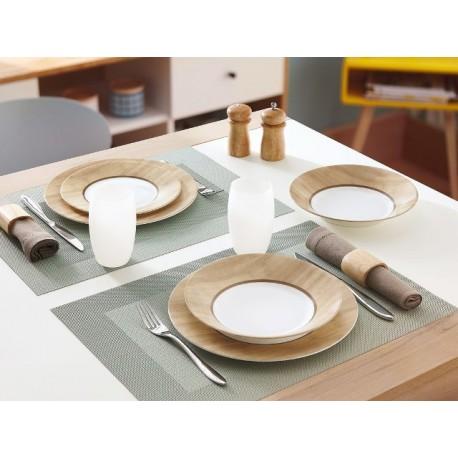 Servizio di piatti da tavola 18 pz luminarc nordic alpaga for Servizio di piatti