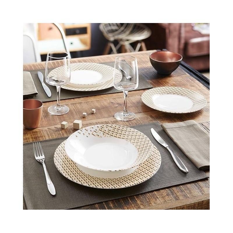 Servizio di piatti da tavola 18 pz luminarc abacco brico - Servizi di piatti ikea ...