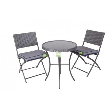 Tavolino Tondo Con Vetro 60x70 In Acciaio E Rattan Brico Casa