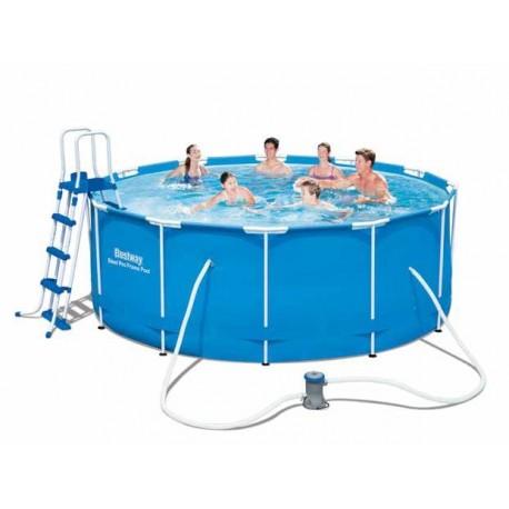 Piscina piscine con telaio tonda bestway 366x122h brico casa for Piscine 366 x 122