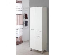 Mobile bagno a doppia colonna portasciugamani bianco legno - Feridras
