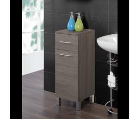 Mobiletto bagno 30-40 cm legno rovere scuro - Feridras