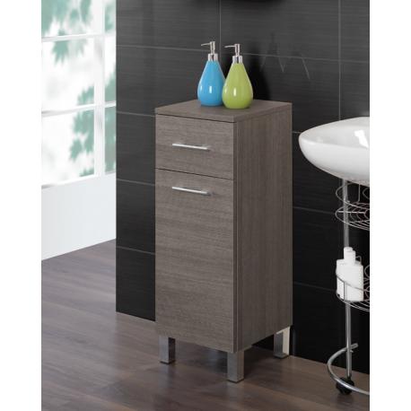Mobiletto bagno 30 40 cm legno rovere scuro feridras brico casa - Mobiletto salvaspazio bagno ...