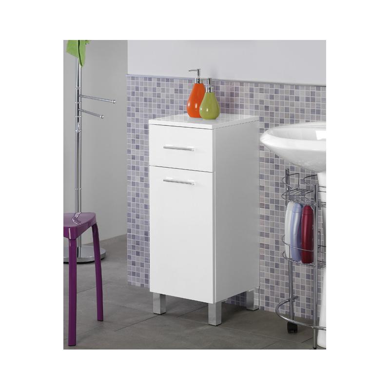 Mobiletto bagno 30-40 cm legno bianco – Feridras - Brico Casa