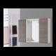 Mobile specchio bagno 90 cm moderno legno rovere bianco - Feridras