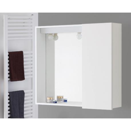 Specchio bagno con anta 70 cm bianco feridras brico casa for Specchio da terra brico