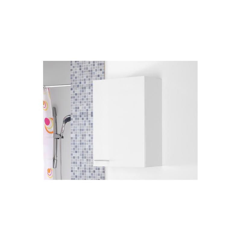 Pensile bianco 50 cm bagno moderno feridras brico casa - Pensile bagno laccato bianco ...