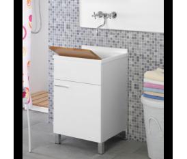 Mobile Lavatoio 50x50 lavabo - Bianco legno - Feridras