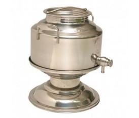 Contenitore olio con rubinetto 5 litri acciaio inox e piedistallo