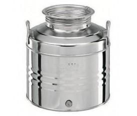 Contenitore per olio 30 litri acciaio inox